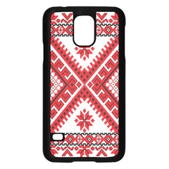 Fabric Aztec Samsung Galaxy S5 Case (black) by Mariart