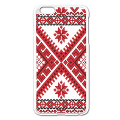 Fabric Aztec Apple Iphone 6 Plus/6s Plus Enamel White Case by Mariart