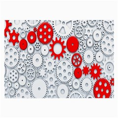 Iron Chain White Red Large Glasses Cloth by Mariart