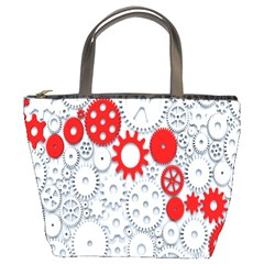Iron Chain White Red Bucket Bags by Mariart