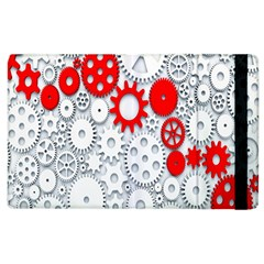 Iron Chain White Red Apple Ipad 3/4 Flip Case by Mariart