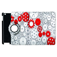 Iron Chain White Red Apple Ipad 3/4 Flip 360 Case by Mariart