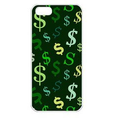 Money Us Dollar Green Apple Iphone 5 Seamless Case (white) by Mariart