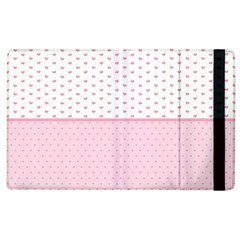 Love Polka Dot White Pink Line Apple Ipad 3/4 Flip Case by Mariart