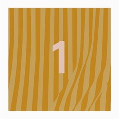 Number 1 Line Vertical Yellow Pink Orange Wave Chevron Medium Glasses Cloth by Mariart