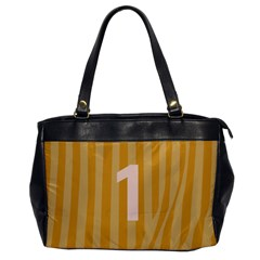 Number 1 Line Vertical Yellow Pink Orange Wave Chevron Office Handbags by Mariart