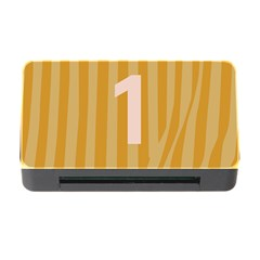 Number 1 Line Vertical Yellow Pink Orange Wave Chevron Memory Card Reader With Cf by Mariart