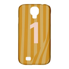 Number 1 Line Vertical Yellow Pink Orange Wave Chevron Samsung Galaxy S4 Classic Hardshell Case (pc+silicone) by Mariart