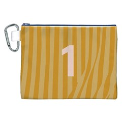 Number 1 Line Vertical Yellow Pink Orange Wave Chevron Canvas Cosmetic Bag (xxl) by Mariart