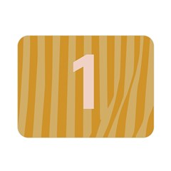 Number 1 Line Vertical Yellow Pink Orange Wave Chevron Double Sided Flano Blanket (mini)  by Mariart