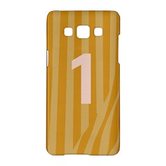 Number 1 Line Vertical Yellow Pink Orange Wave Chevron Samsung Galaxy A5 Hardshell Case  by Mariart