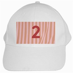 Number 2 Line Vertical Red Pink Wave Chevron White Cap by Mariart