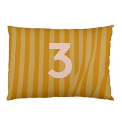 Number 3 Line Vertical Yellow Pink Orange Wave Chevron Pillow Case by Mariart