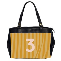 Number 3 Line Vertical Yellow Pink Orange Wave Chevron Office Handbags (2 Sides)  by Mariart