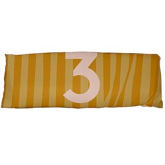 Number 3 Line Vertical Yellow Pink Orange Wave Chevron Body Pillow Case Dakimakura (two Sides) by Mariart