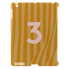 Number 3 Line Vertical Yellow Pink Orange Wave Chevron Apple Ipad 3/4 Hardshell Case (compatible With Smart Cover) by Mariart