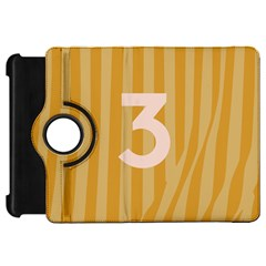 Number 3 Line Vertical Yellow Pink Orange Wave Chevron Kindle Fire Hd 7  by Mariart