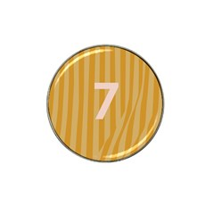 Number 7 Line Vertical Yellow Pink Orange Wave Chevron Hat Clip Ball Marker by Mariart
