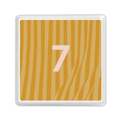 Number 7 Line Vertical Yellow Pink Orange Wave Chevron Memory Card Reader (square)  by Mariart