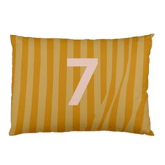 Number 7 Line Vertical Yellow Pink Orange Wave Chevron Pillow Case (two Sides) by Mariart