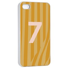 Number 7 Line Vertical Yellow Pink Orange Wave Chevron Apple Iphone 4/4s Seamless Case (white) by Mariart