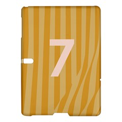 Number 7 Line Vertical Yellow Pink Orange Wave Chevron Samsung Galaxy Tab S (10 5 ) Hardshell Case  by Mariart