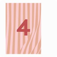 Number 4 Line Vertical Red Pink Wave Chevron Small Garden Flag (two Sides) by Mariart