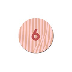 Number 6 Line Vertical Red Pink Wave Chevron Golf Ball Marker (10 Pack) by Mariart