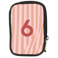 Number 6 Line Vertical Red Pink Wave Chevron Compact Camera Cases by Mariart