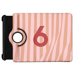 Number 6 Line Vertical Red Pink Wave Chevron Kindle Fire Hd 7  by Mariart