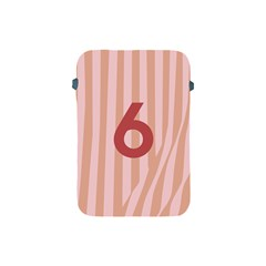 Number 6 Line Vertical Red Pink Wave Chevron Apple Ipad Mini Protective Soft Cases by Mariart