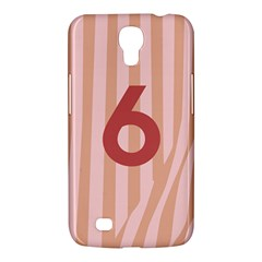 Number 6 Line Vertical Red Pink Wave Chevron Samsung Galaxy Mega 6 3  I9200 Hardshell Case by Mariart