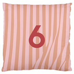 Number 6 Line Vertical Red Pink Wave Chevron Large Flano Cushion Case (two Sides) by Mariart