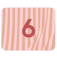 Number 6 Line Vertical Red Pink Wave Chevron Double Sided Flano Blanket (medium)  by Mariart