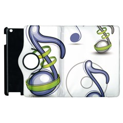 Notes Musical Elements Apple Ipad 3/4 Flip 360 Case by Mariart