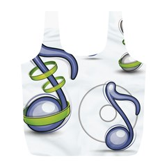 Notes Musical Elements Full Print Recycle Bags (l)  by Mariart