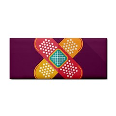 Plaster Scratch Sore Polka Line Purple Yellow Cosmetic Storage Cases by Mariart
