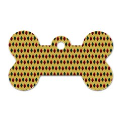 Points Cells Paint Texture Plaid Triangle Polka Dog Tag Bone (two Sides) by Mariart