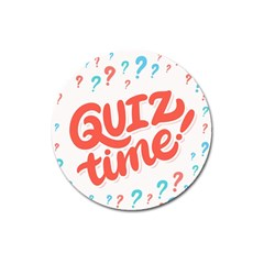 Question Mark Quiz Time Magnet 3  (round) by Mariart