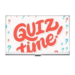Question Mark Quiz Time Business Card Holders by Mariart