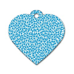 Pattern Blue Dog Tag Heart (two Sides) by Mariart