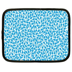 Pattern Blue Netbook Case (xl)  by Mariart