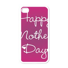 Valentine Happy Mothers Day Pink Heart Love Apple Iphone 4 Case (white) by Mariart