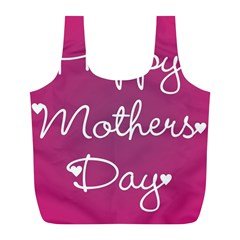 Valentine Happy Mothers Day Pink Heart Love Full Print Recycle Bags (l)  by Mariart