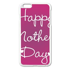 Valentine Happy Mothers Day Pink Heart Love Apple Iphone 6 Plus/6s Plus Enamel White Case by Mariart