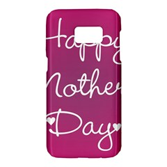Valentine Happy Mothers Day Pink Heart Love Samsung Galaxy S7 Hardshell Case  by Mariart