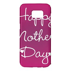 Valentine Happy Mothers Day Pink Heart Love Samsung Galaxy S7 Edge Hardshell Case by Mariart