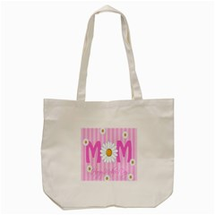Valentine Happy Mothers Day Pink Heart Love Sunflower Flower Tote Bag (cream) by Mariart