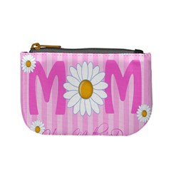 Valentine Happy Mothers Day Pink Heart Love Sunflower Flower Mini Coin Purses by Mariart