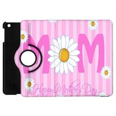 Valentine Happy Mothers Day Pink Heart Love Sunflower Flower Apple Ipad Mini Flip 360 Case by Mariart